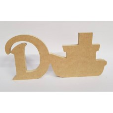 18mm Freestanding Boat and Letter 18mm MDF Craft Shapes