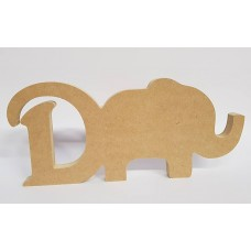 18mm Freestanding Elephant and Letter 18mm MDF Craft Shapes