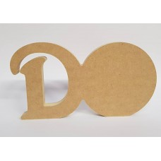 18mm Freestanding Ball and Letter 18mm MDF Craft Shapes