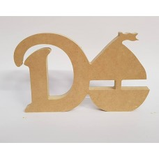 18mm Freestanding Sail Boat and Letter 18mm MDF Craft Shapes