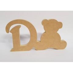 18mm Freestanding Bear and Letter
