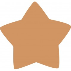 18mm Rounded Country Star 18mm MDF Craft Shapes