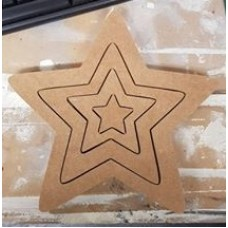 18mm 4 Piece Interlocking Star Set 18mm MDF Interlocking Craft Shapes