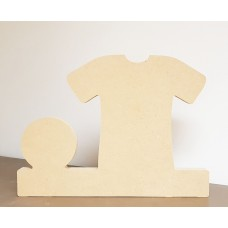 18mm Football Shirt and Ball on Base 200mm high 18mm MDF Craft Shapes