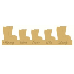 18mm  Engraved Wellington Boot Family Christmas Shapes