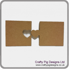 18mm Freestanding  Heart Link Jigsaw Pieces (set of two) Valentines