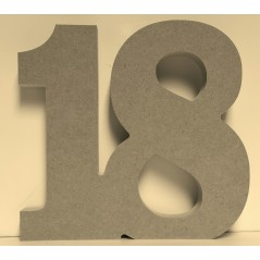 18mm Freestanding Joined Numbers 18mm MDF Letters and Numbers