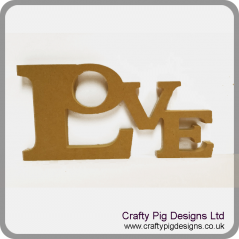 18mm Freestanding Tumbling Letters - Love
