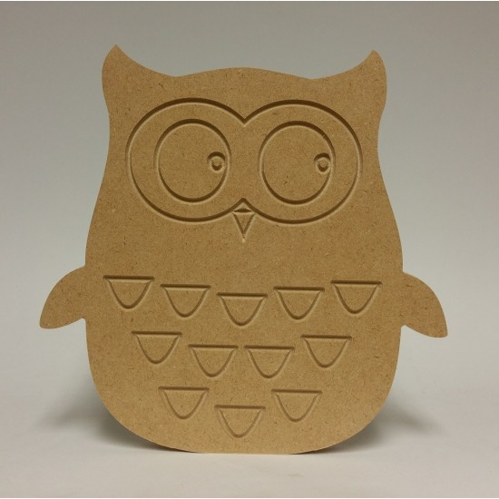 18mm Owl 18mm MDF Craft Shapes