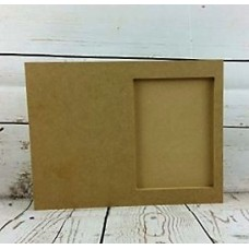 18mm MDF Freestanding Block Photo Frame for 5x7 Photo 18mm MDF Craft Shapes