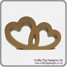 18mm Joined Hollow Hearts (by height) 18mm MDF Craft Shapes
