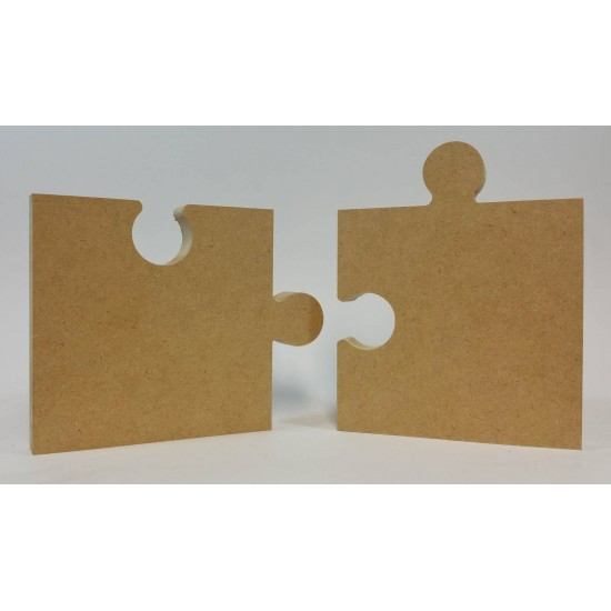 18mm Freestanding Jigsaw Pieces (2 piece set) 18mm MDF Interlocking Craft Shapes