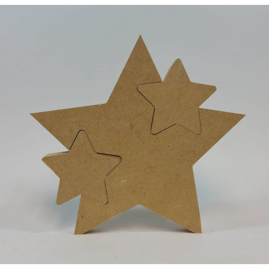 18mm Freestanding Star With 2 Interlocking Stars