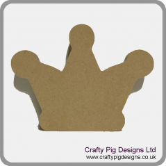 18mm Freestanding 3 Point Crown 18mm MDF Craft Shapes