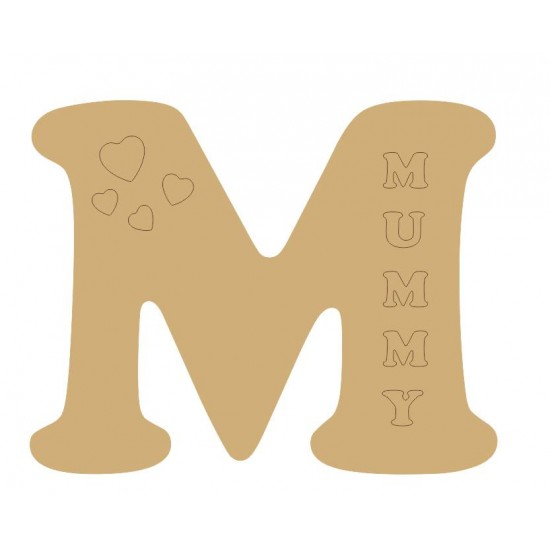 3mm mdf - 15cm Cooper Font Letter (with any name and shape) 3, 4 and 6mm Letters & Numbers