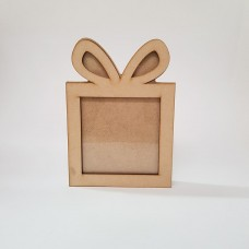 Freestanding Bordered Perspex gift Box Shape Frame Christmas Shapes