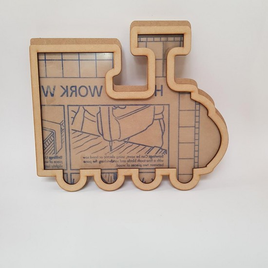 Freestanding Bordered Perspex Train Frame Baby Shapes