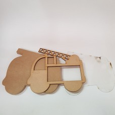 Freestanding Bordered Perspex Fire Engine Frame Baby Shapes