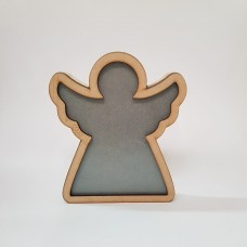 Freestanding Bordered Perspex Angel Frame 18mm MDF Craft Shapes