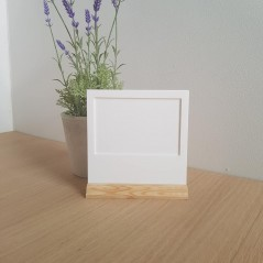 3mm 6 x 4 White Acrylic Polaroid Holder with Full Width Stand Photo Frames