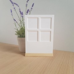 3mm A4 White Acrylic Polaroid Holder with Full Width Stand Photo Frames