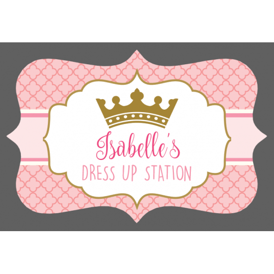 3mm Acrylic Box Topper / Plaque Dressing Up Station Design Personalised and Bespoke