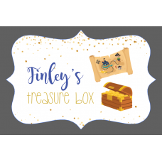 3mm Acrylic Box Topper / Plaque Treasure Box Design Personalised and Bespoke