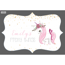3mm Acrylic Box Topper- Unicorn Pretty Things Design Personalised and Bespoke