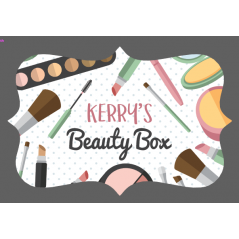 3mm Acrylic Box Topper / Plaque Beauty Box Design Personalised and Bespoke