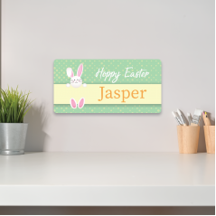 3mm Printed Clipart Bunny Easter Crate Plaque/Box Topper/Plaque