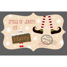 3mm Acrylic Box Topper - Special Elf Delivery Design Personalised and Bespoke