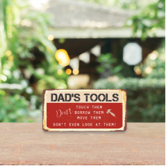 3mm Printed Dad's Tools Plaque Personalised and Bespoke