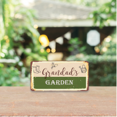3mm Printed Grandad's Garden Plaque Fathers Day