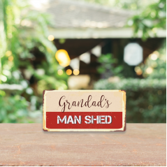 3mm Printed Grandad's Man Shed Plaque