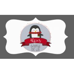 3mm Acrylic Box Topper / Penguin Design Personalised and Bespoke