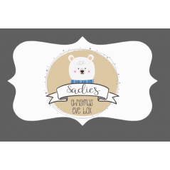 3mm Acrylic Box Topper / Polar Bear Design Personalised and Bespoke