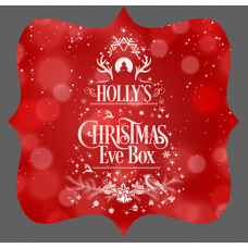 3mm Acrylic Box Topper- Red and White Design Personalised and Bespoke