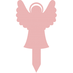 Angel With Halo Memorial Marker