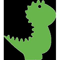 Acrylic T Rex Dinosaur Tag / Keyring  (Pack of 10) Acrylic Keyrings / Tags