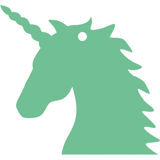 10cm High Acrylic Unicorn Head Keyring (pack of 10) Acrylic Keyrings / Tags