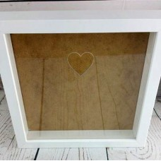 Blank Acrylic Front for IKEA Ribba or Sannahed Frame - with heart cut out Basic Shapes - Square Rectangle Circle