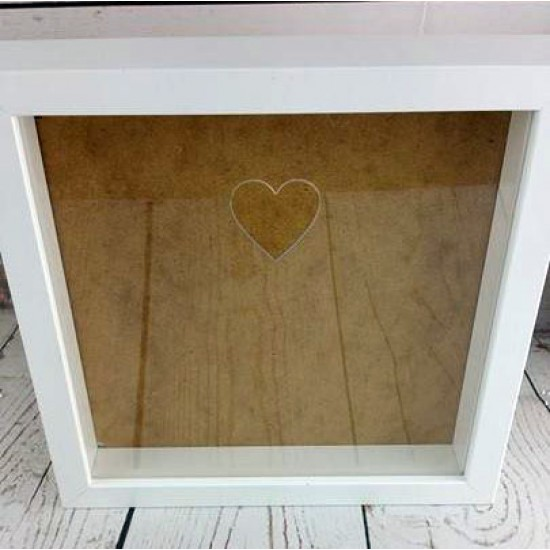 Blank Acrylic Front for Ikea Ribba Frame - with heart cut out Basic Shapes - Square Rectangle Circle