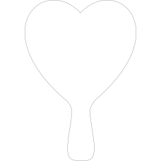 3mm Acrylic Heart Paddle (250mm high) Basic Shapes