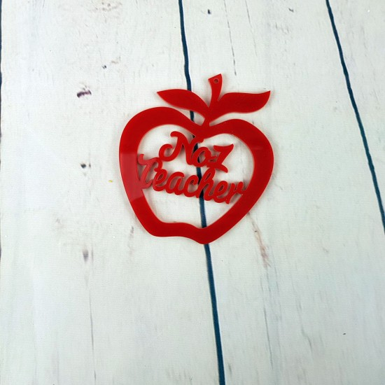3mm Red Acrylic Apples - choose from options Teachers