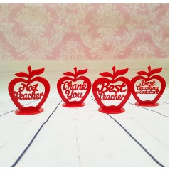 3mm  Personalised Red Acrylic Apples  Teachers