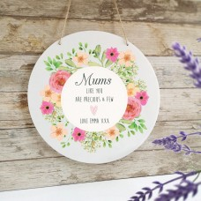 Personalised Printed White Circle - Mum's Like You Personalised and Bespoke