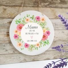 Personalised Printed White Circle - Mum's Like You