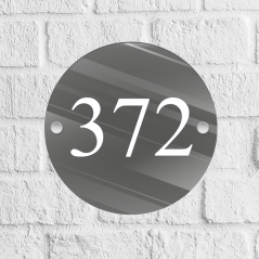 Circle Acrylic Door Number Blank with stand offs House Number Blanks