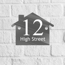 House Acrylic Door Number Blank with stand offs House Number Blanks