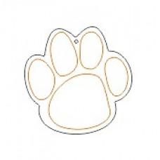 10cm Acrylic Etched Dog Paw Shape (Pack of 10) Christmas Acrylic
